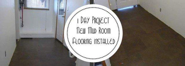 1 Day Project - New Mud Room Luxury Vinyl Flooring