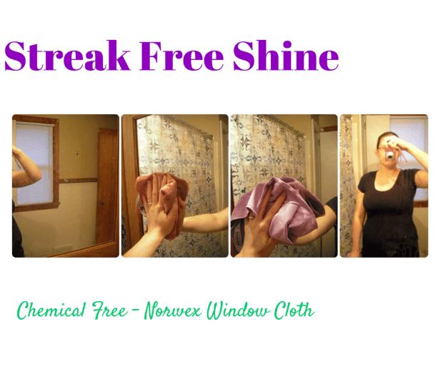 Norwex Window Cloth leaves a streak free shine!