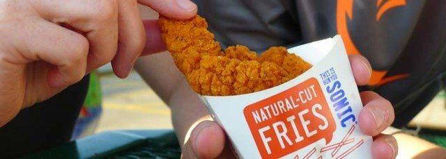SONIC ® Drive-In spicy super crunch chicken strips