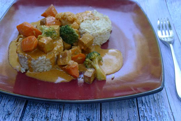 Veestro Red Curry with Tofu and Vegetables