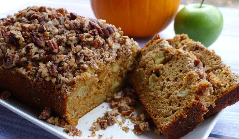Pumpkin Quick Bread with Apples and Pecan Streusel Recipe