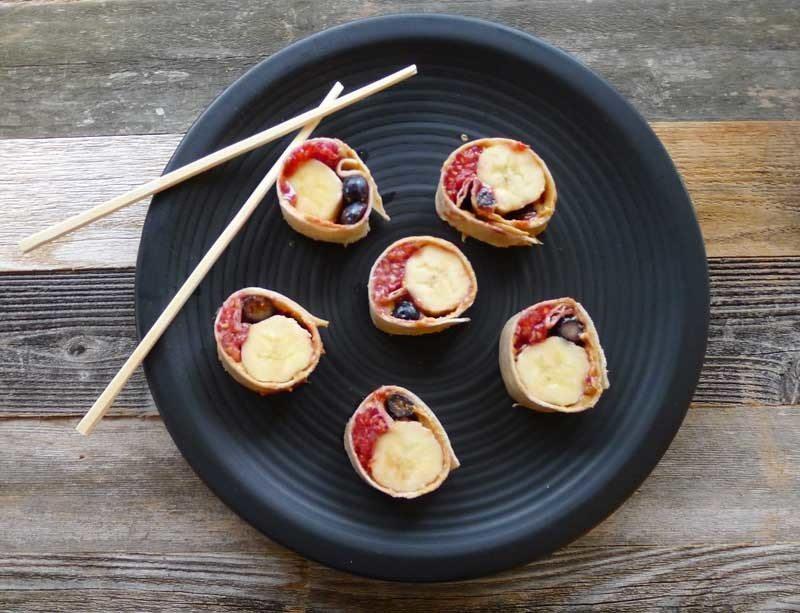 PB&J Fruit Sushi