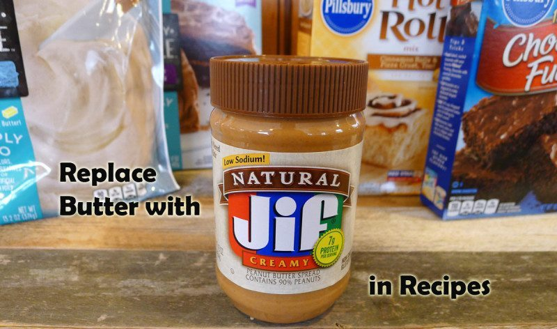 Replace butter with peanut butter in recipes