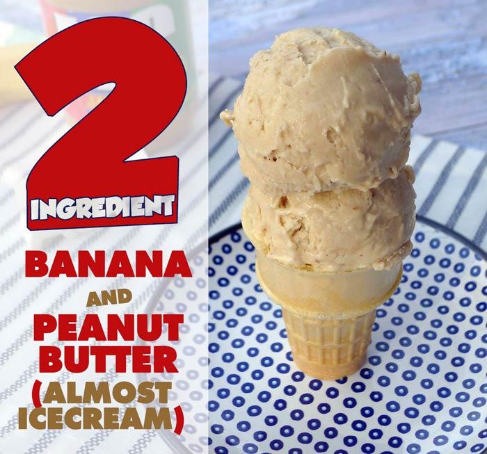 "Two-Ingredient Banana Peanut Butter ""Ice Cream"" Recipe"
