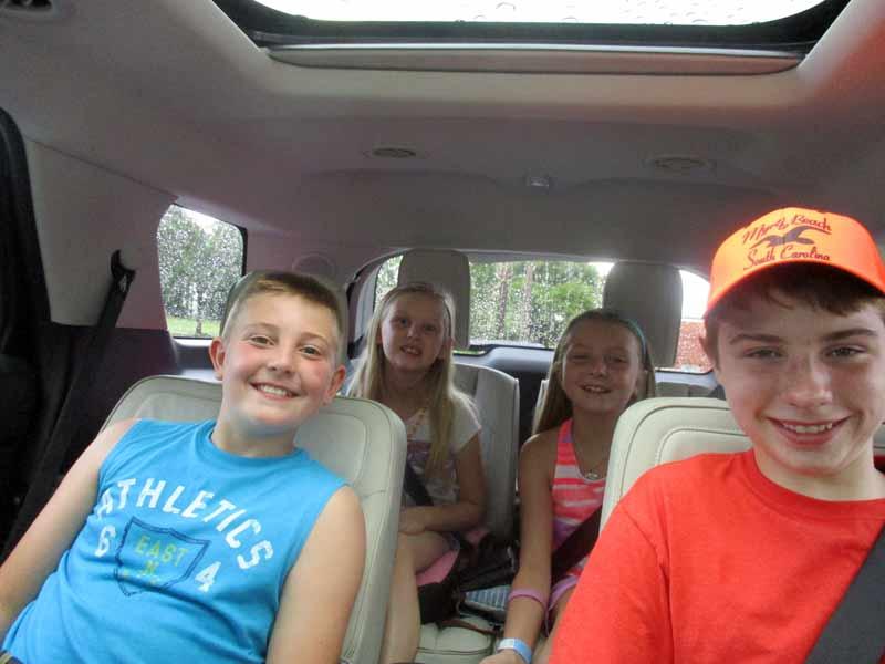 Back Seats in Ford Explorer Platinum