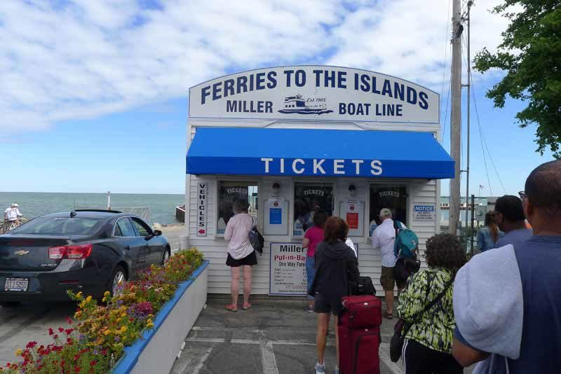 tickets for Miller Ferry leaves to Put-in-Bay