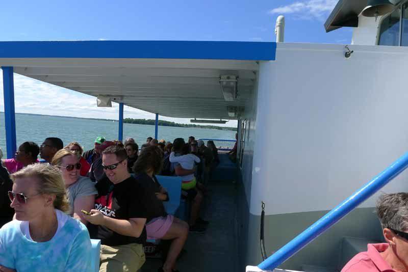 upper deck on Miller Ferry