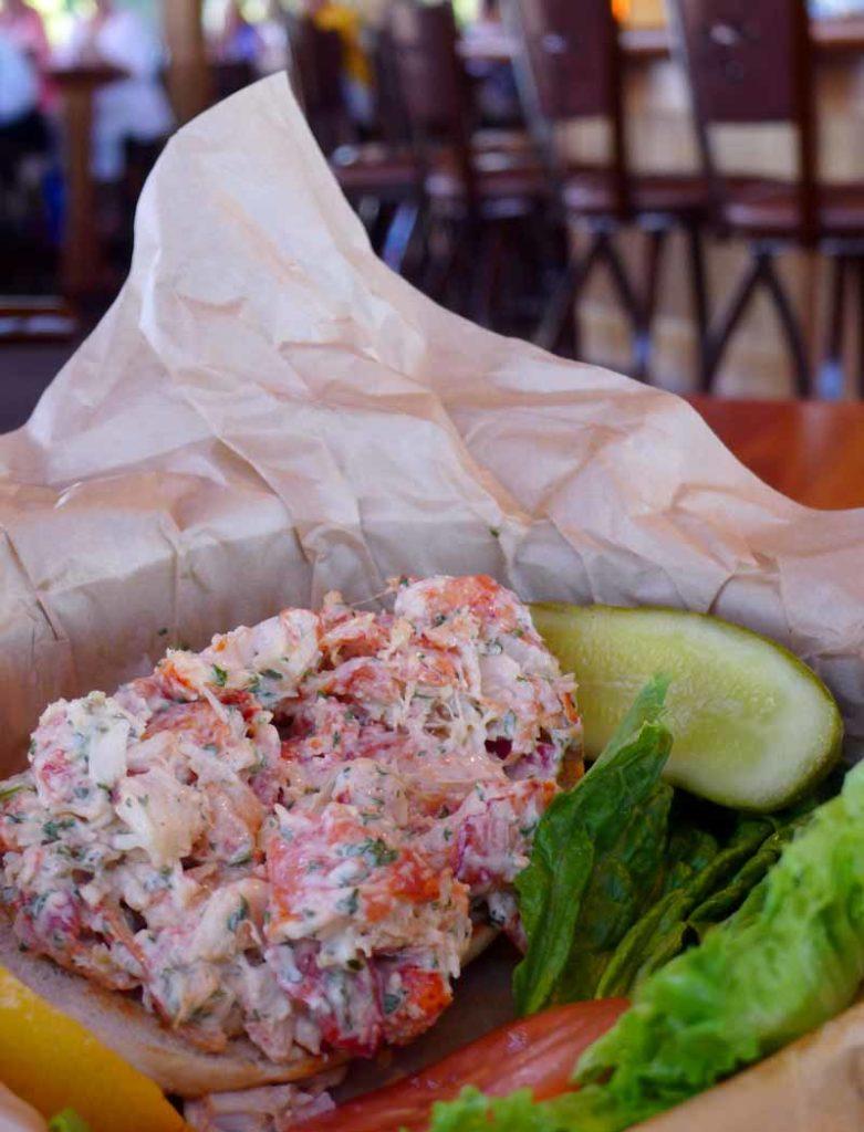 lobster roll at Boardwalk waterfront put-in-bay restaurant