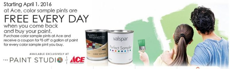 free paint at ace hardware