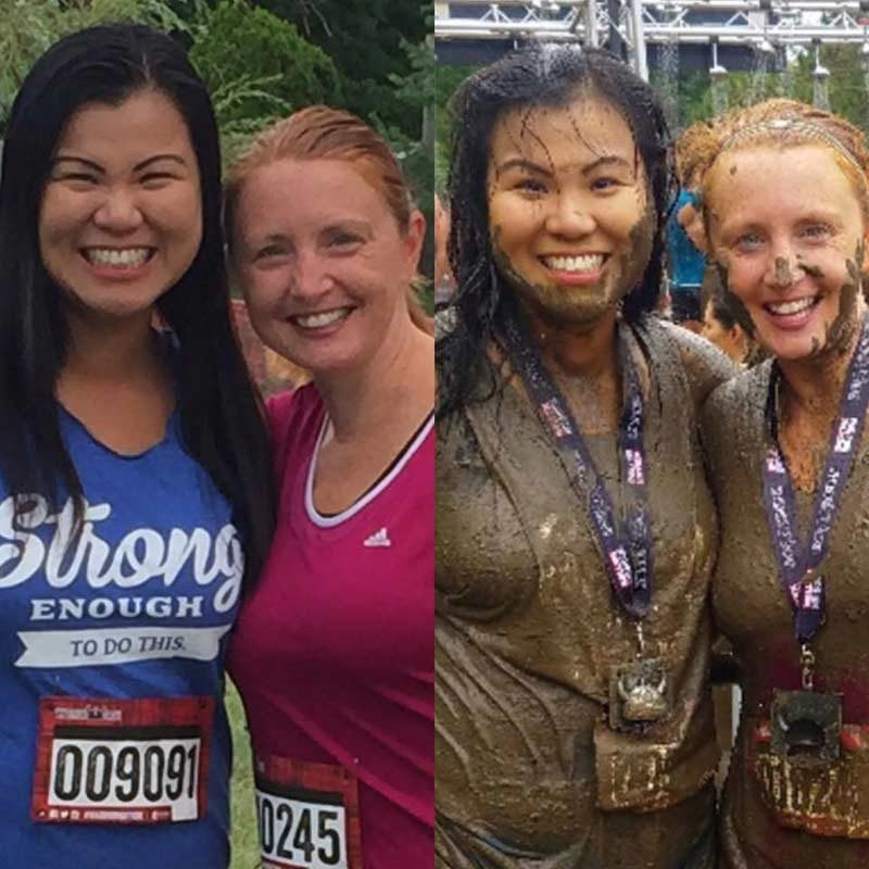 before and after warrior dash pictures