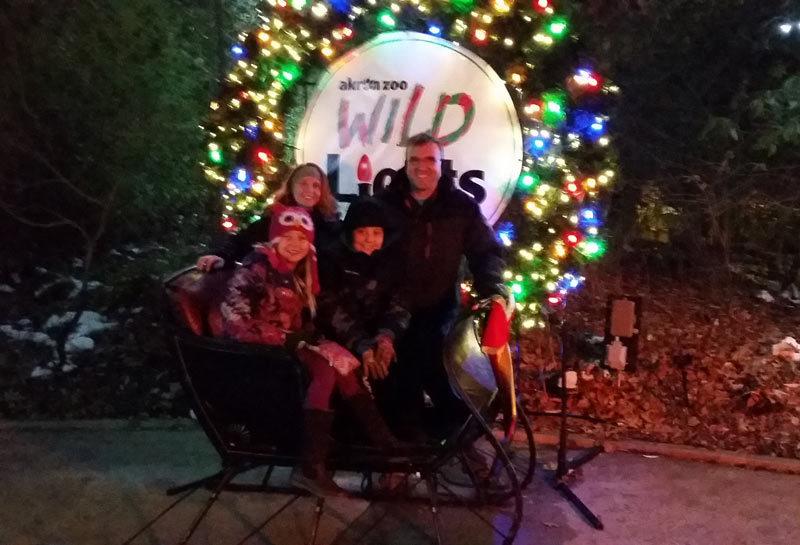Akron Zoo Christmas Lights