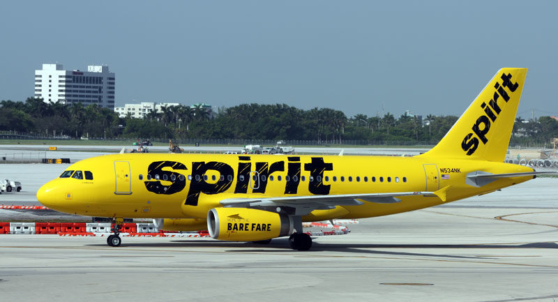 Spirit Airlines Low Cost Tickets Akron Canton Airport