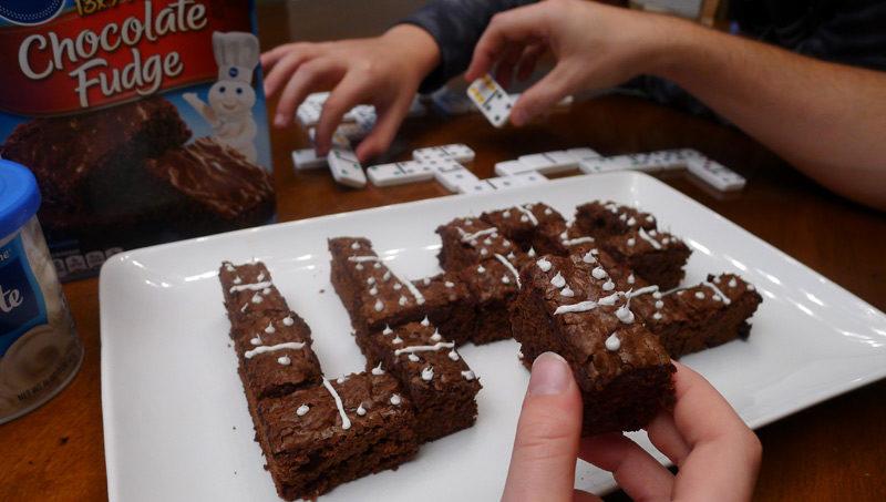 Pillsbury Brownies Dominoes