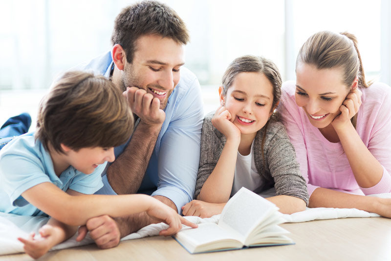 Family Time Reading together