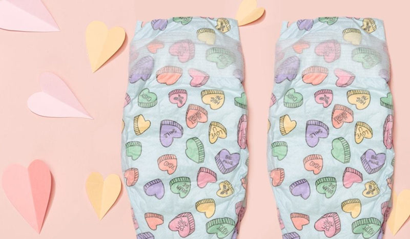 Valentine's Day diapers