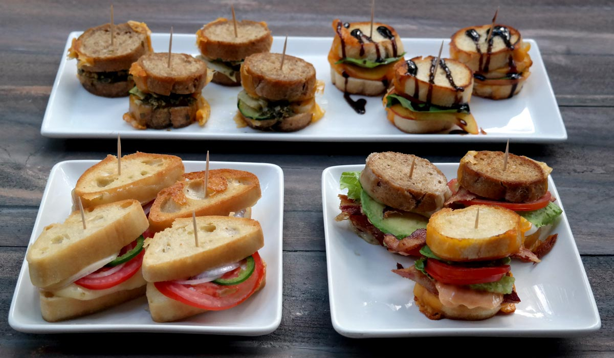 Mini Grilled Heluva Good! Cheese Sandwich Appetizers