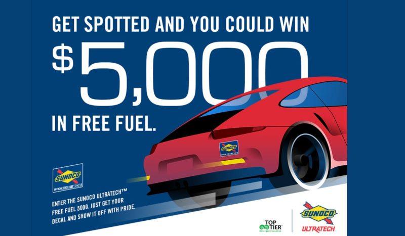 sunoco free fuel 5000