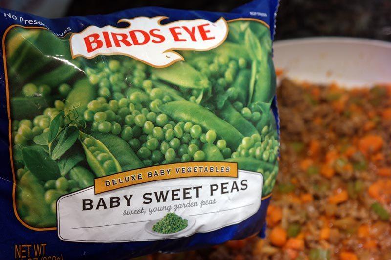 frozen birds eye peas