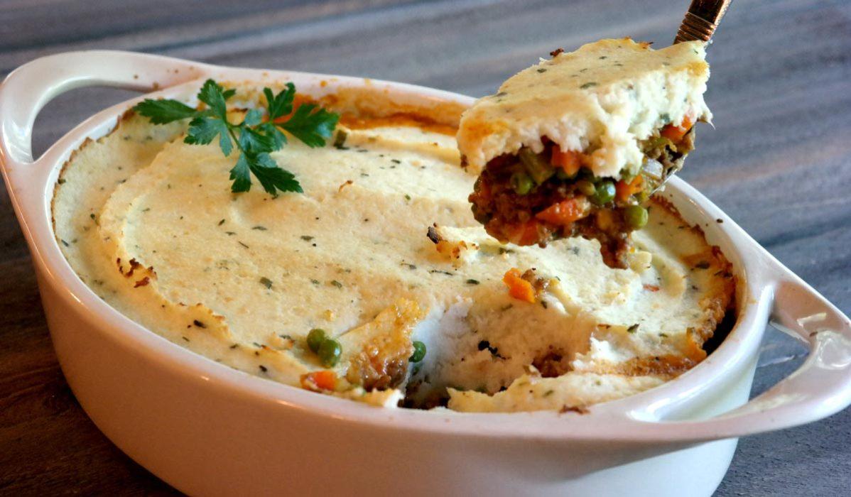 Low Carb Shepherd's Pie with Mashed Cauliflower Recipe