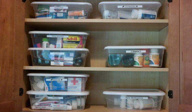 easy steps to organize medicine cabinet