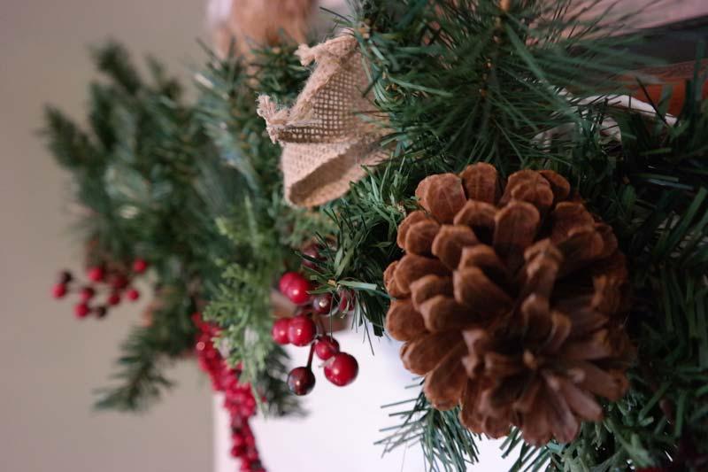 Festive Christmas Mantel