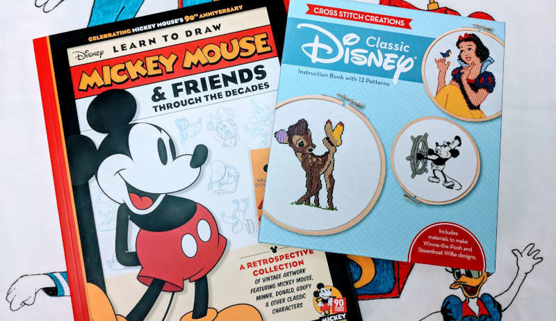 Disney learn to draw and cross stitch creations