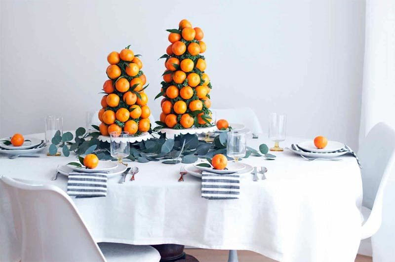 Wonderful Halos edible holiday centerpiece
