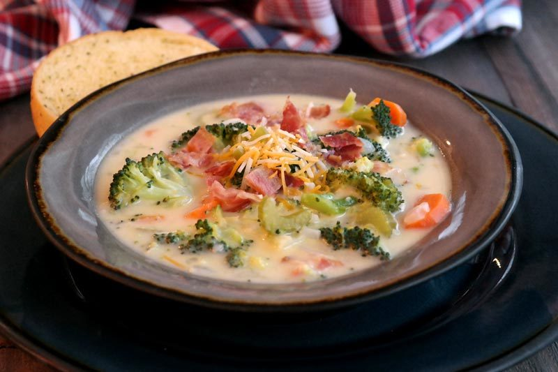 Broccoli Cheese Vegetable Soup Recipe