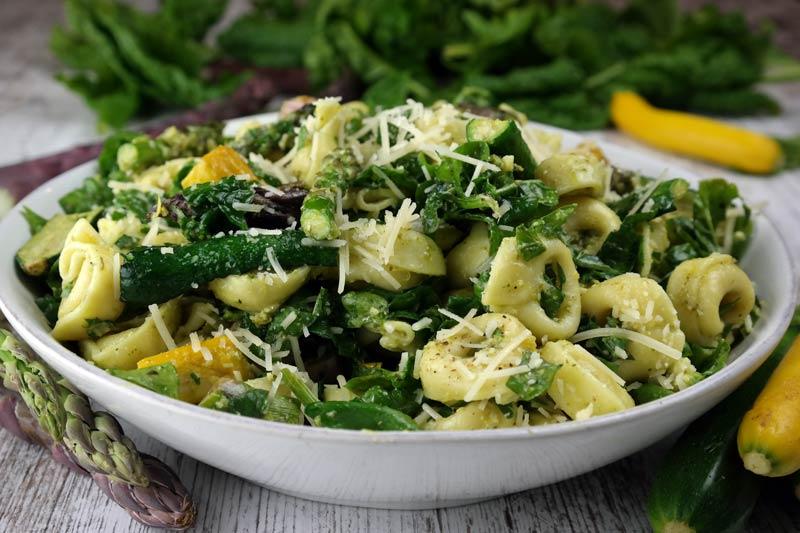 Summer Vegetables with Tortellini