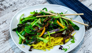 Stir Fry Beef & Bok Choy with Noodles Recipe
