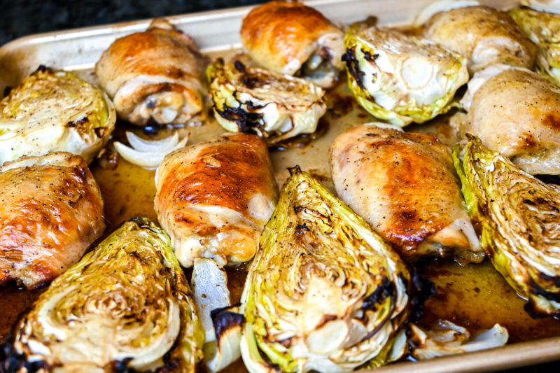 Sheet Pan Chicken and Arrowhead Cabbage Recipe